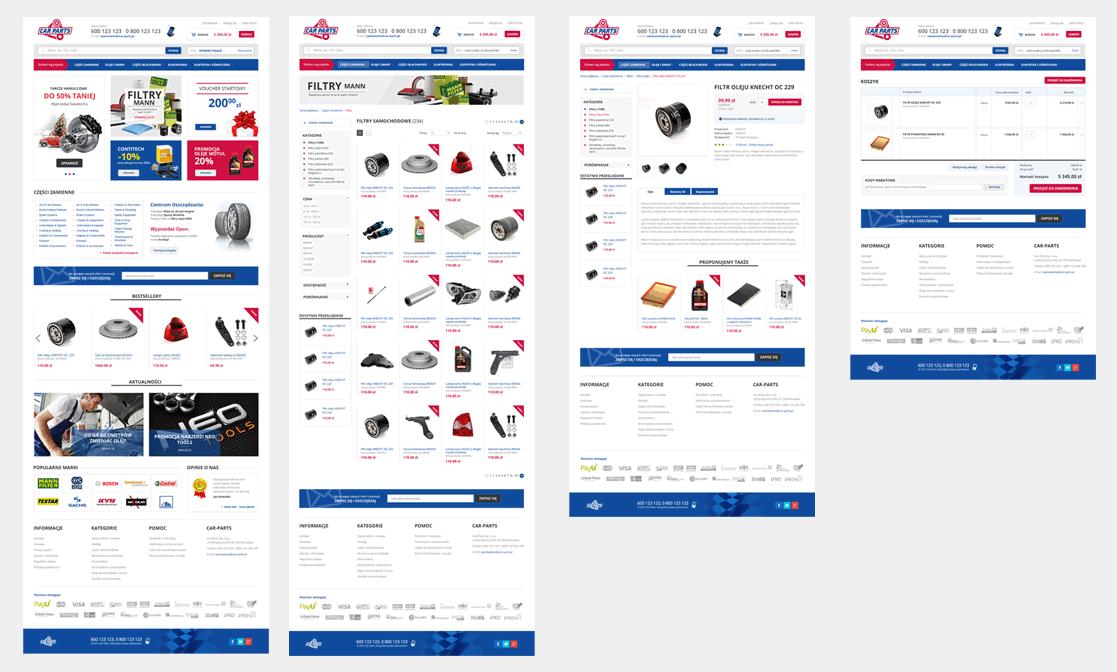 CARPARTS - sklep internetowy Magento z częściami samochodowymi