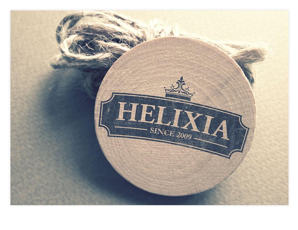 Helixia - opakowania produktowe oraz logo marki