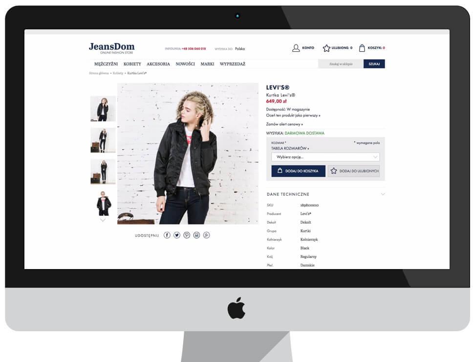JeansDom - sklep internetowy Magento