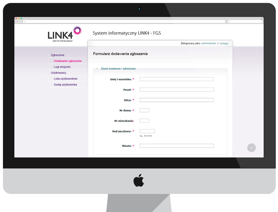 Link4 - system informatyczny FGS