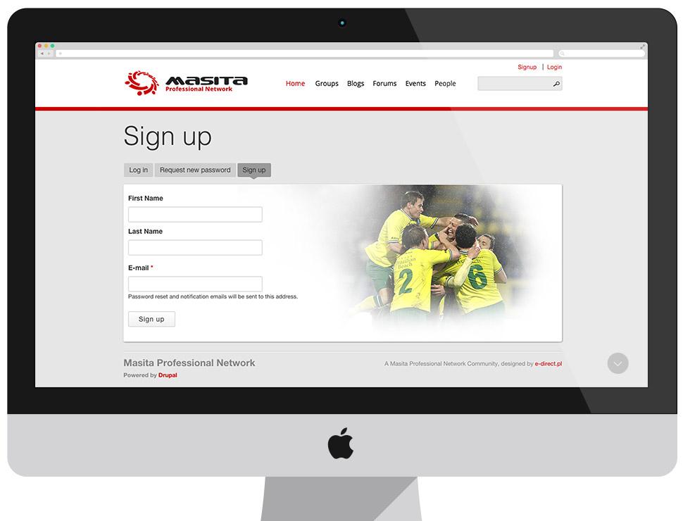 MASITA Professional Network - CMS Drupal