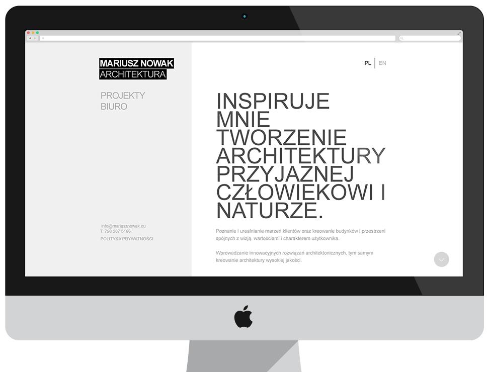 MNA Architektura - strona informacyjna CMS Drupal